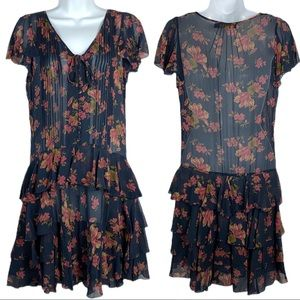 POLO RALPH LAUREN Floral-Print Silk Midi Dress